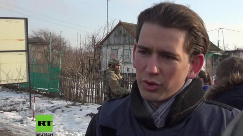 Außenminister Kurz in Ostukraine: Mehr Miteinander und Ende der Bestrafungspolitik gegen Russland