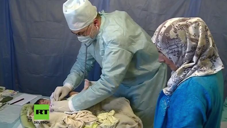 Russische Ärzte in Aleppo: Verletzte haben keine Behandlungsmöglichkeit, deshalb müssen wir helfen