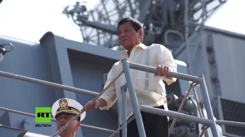 US-Neocons toben: Duterte besucht russisches Marine-Schiff und begutachtet Waffensystem