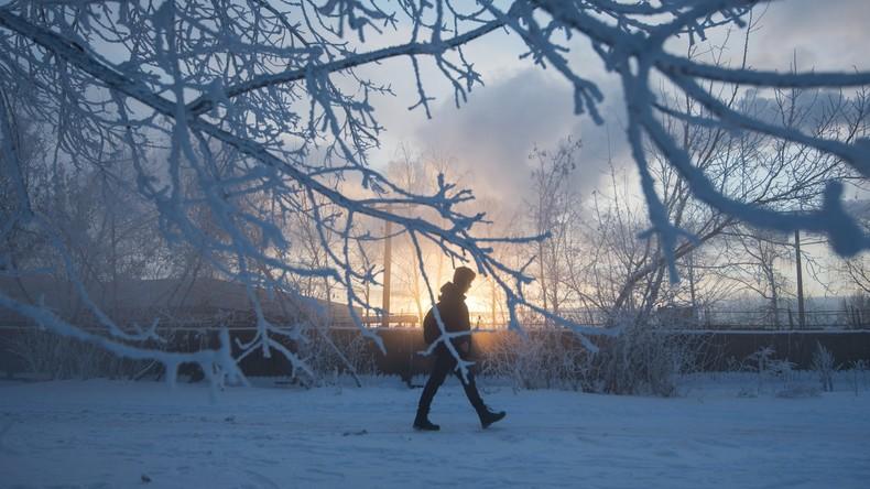 Klirrende Kälte in Moskau