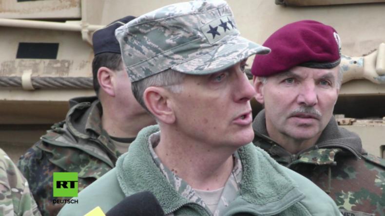 US-General in Bremen: Panzer aus den USA sind Antwort auf offene Aggression Russlands