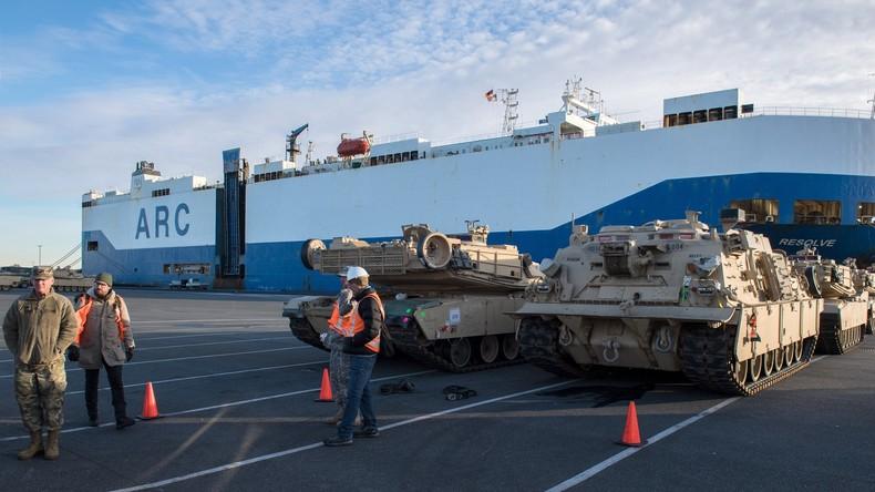 US-Panzerkompanie ist auf dem Weg nach Lettland