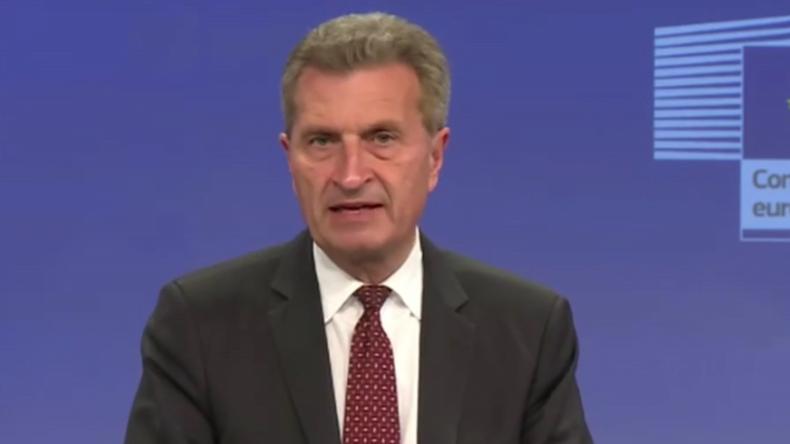Live: Günther Oettinger wird nach diskriminierenden Aussagen über Chinesen im EU-Parlament befragt