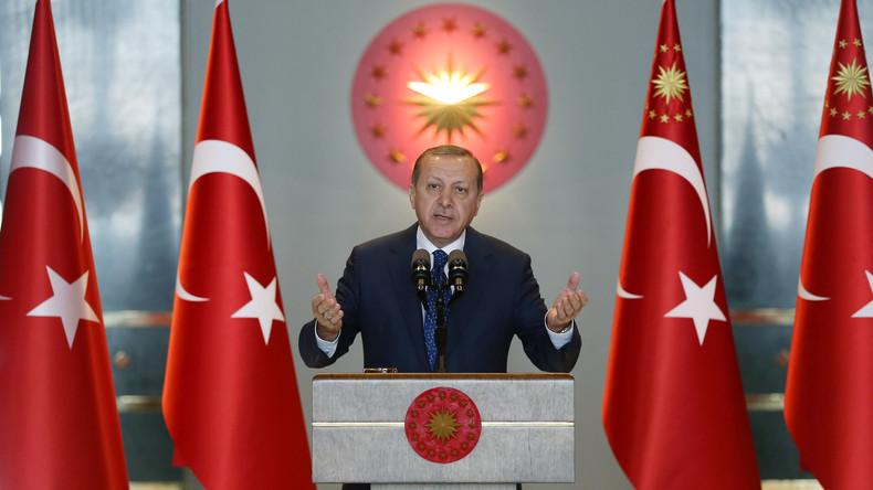 Recep Tayyip Erdoğan hofft auf eine politische Lösung der Syrien-Krise im Jahr 2017