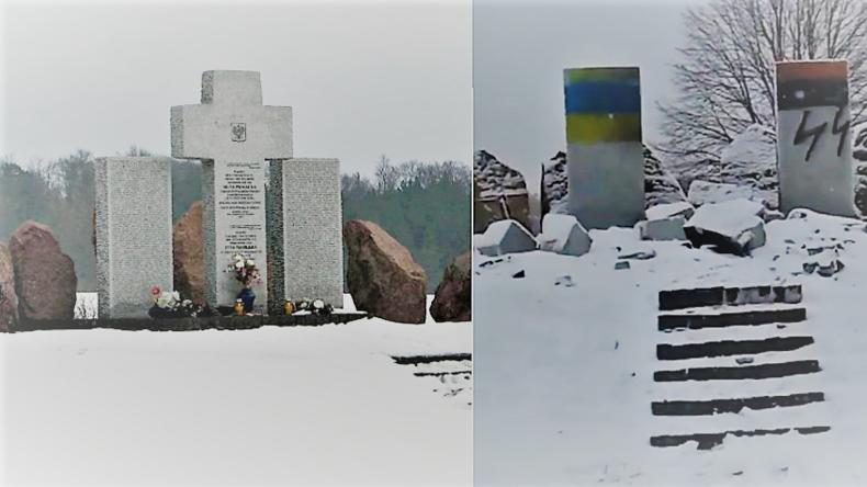 Denkmal für polnische Nazi-Opfer in der Ukraine gesprengt - Rechter Sektor im Verdacht