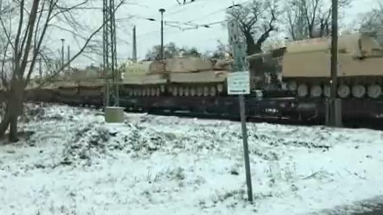 Wie sich die Zeiten ändern: US-Militärgerät rollt durch ehemaliges DDR-Gebiet