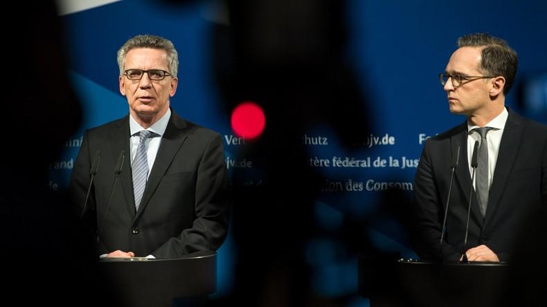 Terrorgefahr: Maas und de Maizière vereinbaren schärfere Regeln für Gefährder
