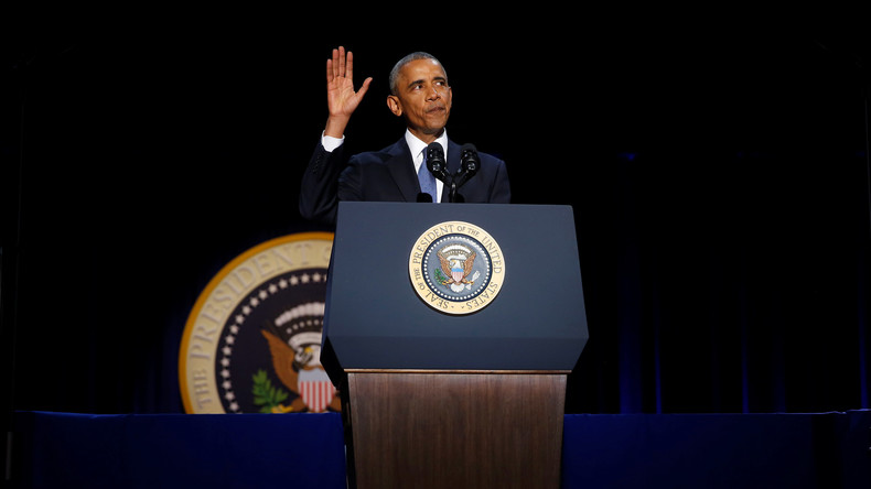 Obamas Abschiedsrede: Russland und China können US-Einfluss rund um die Welt nicht erreichen