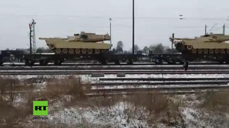 Wo ist der antiimperialistische Schutzwall, wenn man ihn braucht? - US-Panzertransport durch ex-DDR