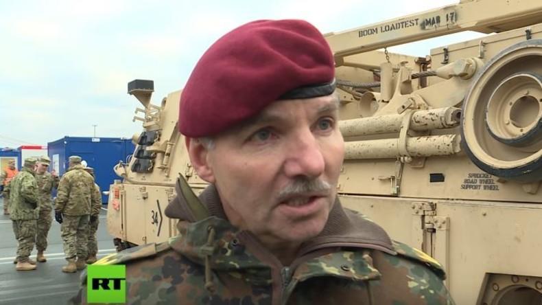 """Bundeswehrgeneral zu RT über US-Panzertransporte: """"Wir als Gastland der US-Amerikaner"""""""
