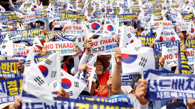 Südkoreaner verzögern Genehmigung für US-amerikanisches THAAD-Raketensystem