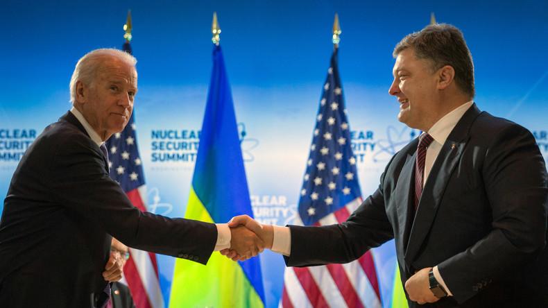US-Vize Joe Biden vergleicht demokratischen Weg der Ukraine mit Flug zum Mond