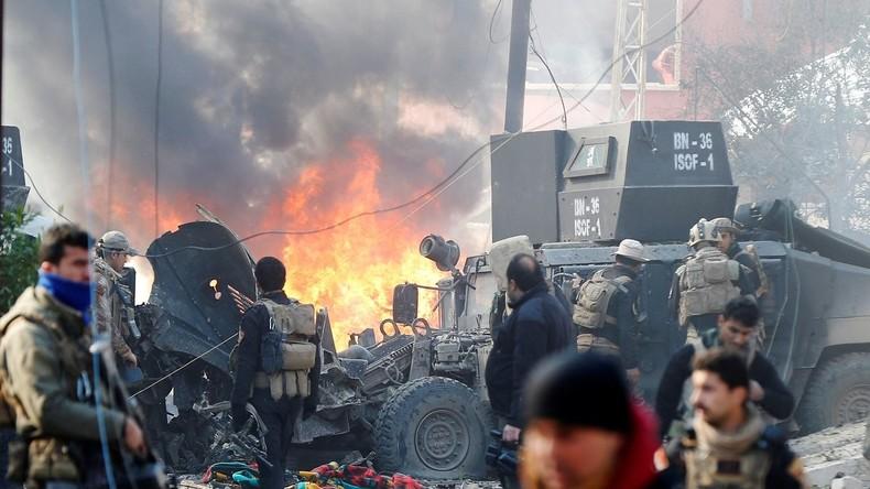 Mindestens 15 Tote bei Doppelexplosion in Mossul