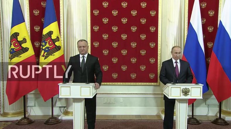 """Live: Putin gibt mit neuem """"pro-russischem"""" Präsidenten Moldawiens gemeinsame Pressekonferenz"""