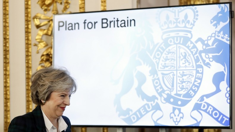 """Theresa May verspricht harten Brexit: """"Kein irgendetwas, das uns halb drin, halb draußen lässt"""""""