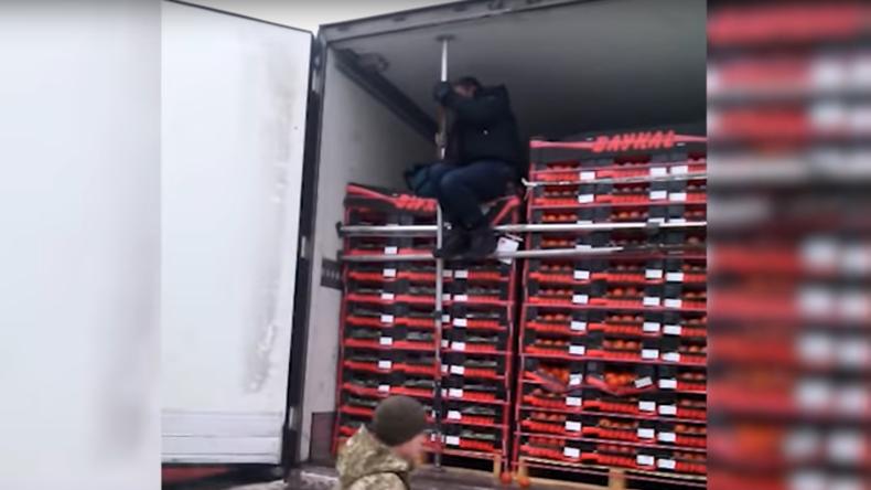 Iranischer Flüchtling auf dem Weg nach Deutschland im Gefrier-Transporter gefasst