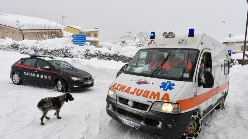 Lawine stürzt auf Hotel in Italien – Mindestens 30 Tote bestätigt