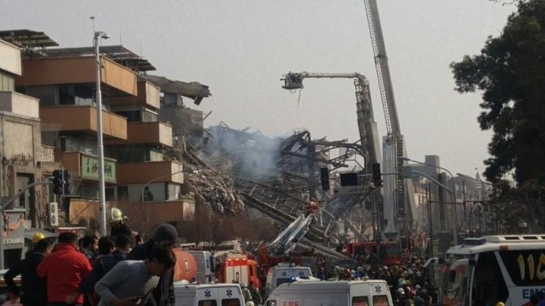 17-stöckiges Hochhaus in Teheran eingestürzt – mindestens 30 Tote und 25 Verletzte