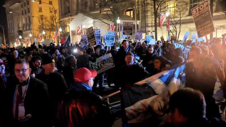 Gewaltsame Proteste gegen Amtseinführung von Donald Trump