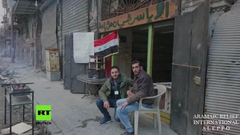 """Aramäische Hilfsorganisation: """"Menschen in Aleppo feiern wieder doch vom Westen gibt es kaum Hilfe"""""""