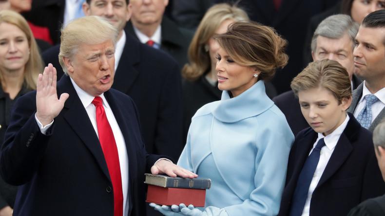 Donald Trump als 45. Präsident der Vereinigten Staaten vereidigt