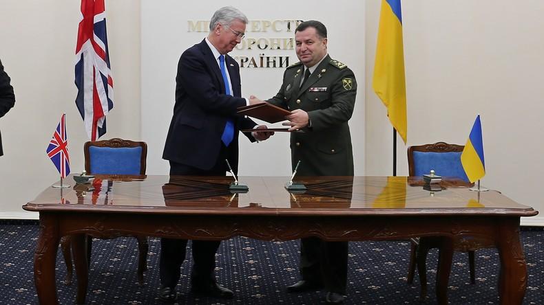 Ukraine und Großbritannien bauen militärische Zusammenarbeit aus