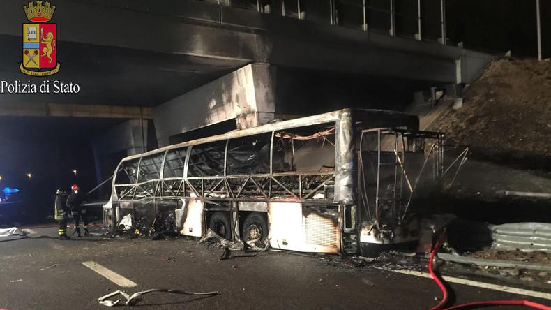 16 Todesopfer bei Busunglück in Italien