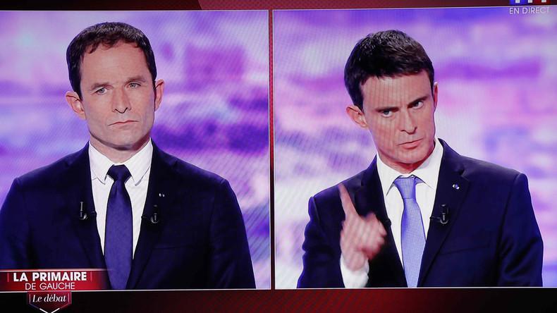Frankreich: Hamon und Valls setzen sich bei Vorwahl der Sozialisten durch