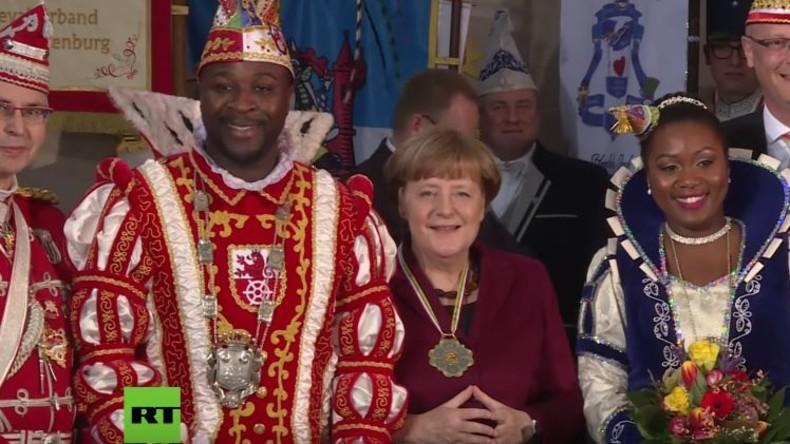 """""""Mit Verstand statt mit Fakes überzeugen"""" - Deutscher Karnevalsorden zu Gast bei Angela Merkel"""
