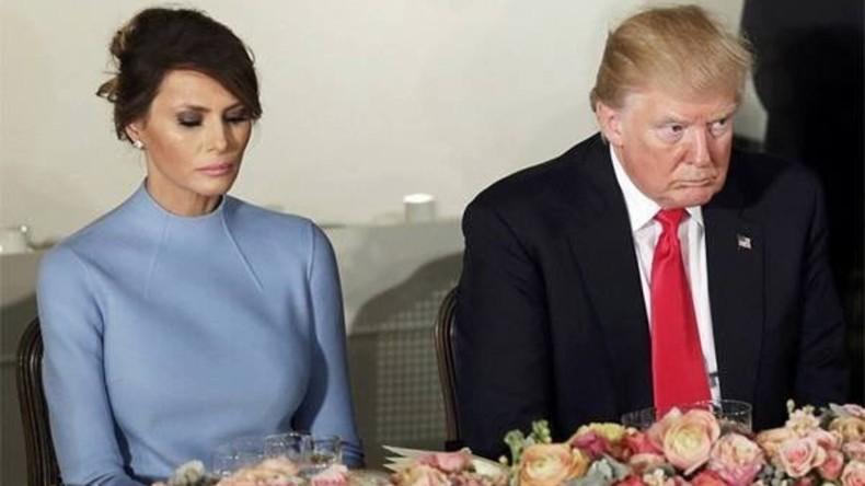 """Internet-Gemeinschaft fühlt mit der """"traurigen"""" Frau des US-Präsidenten Trump mit"""