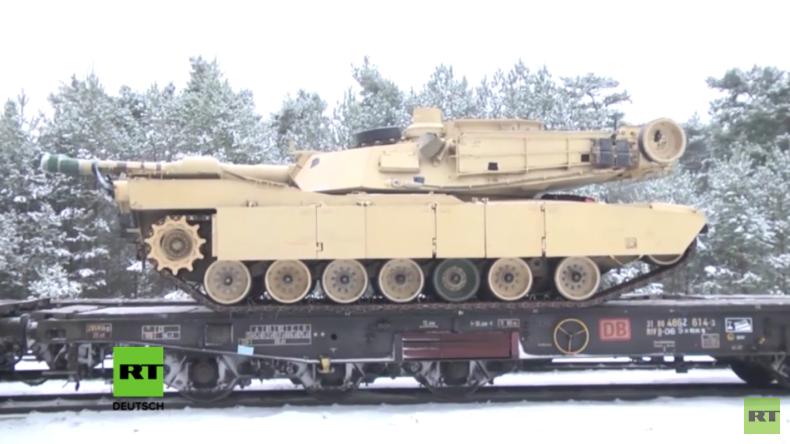 Schweres US-Militärgerät bei Transport nach Polen beschädigt