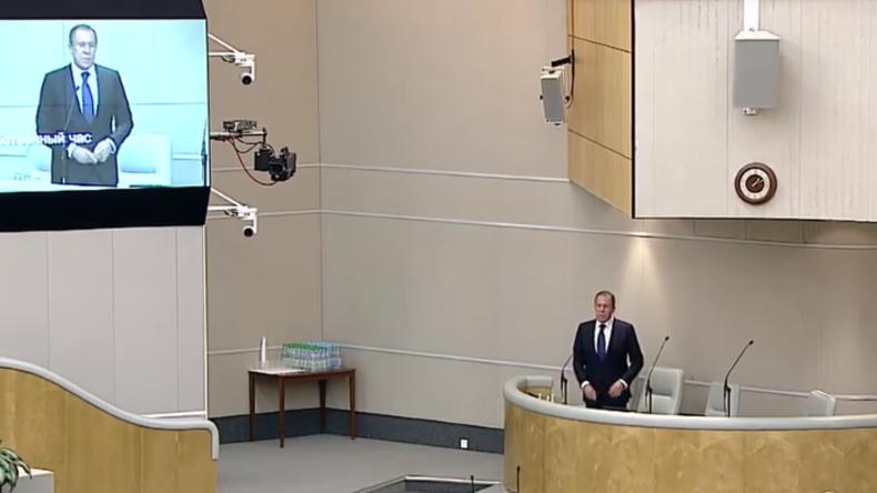 Live: Lawrow spricht zu internationalen Anliegen in der Staatsduma