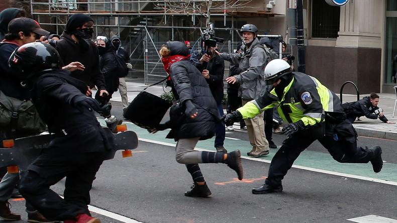 Bericht über gewalttätige Proteste in Washington: Journalist von RT drohen zehn Jahre Knast