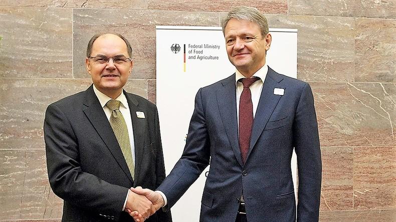 Russischer Agrarminister in Berlin zu Sanktionen: Haben uns umorientiert, aber Zusammenarbeit bleibt