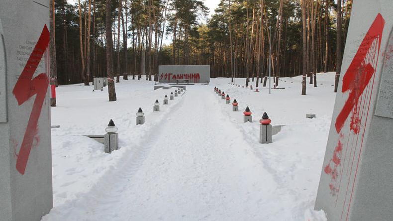 Schänder verunstalten polnischen Militärfriedhof bei Kiew