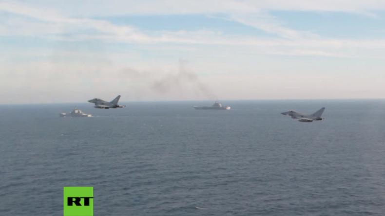 Britische Kampfjets und Kriegsschiffe eskortieren russischen Flugzeugträger durch Ärmelkanal