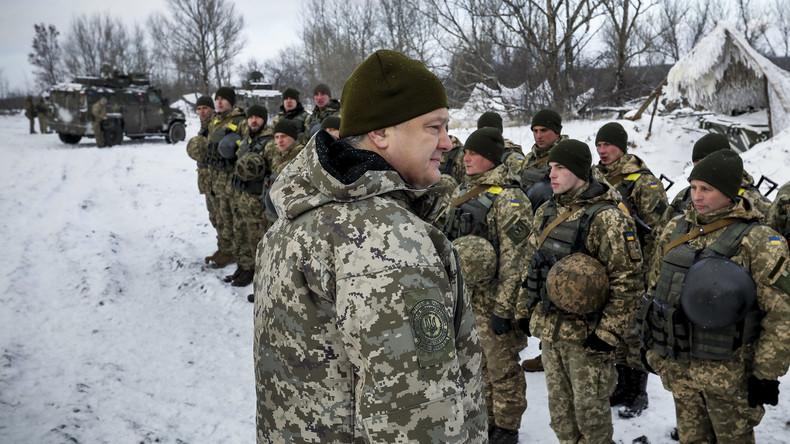 Poroschenko genehmigt Präsenz der NATO-Panzer und Militärs in der Ukraine