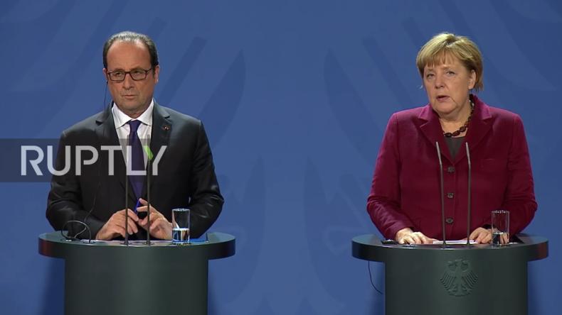 Live Bundeskanzlerin Merkel gibt gemeinsame Pressekonferenz mit Francois Hollande in Berlin