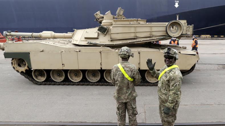 """""""Früher konnten wir das"""" – US-Militär gesteht peinliche Pannen bei Panzerverlegung nach Europa ein"""