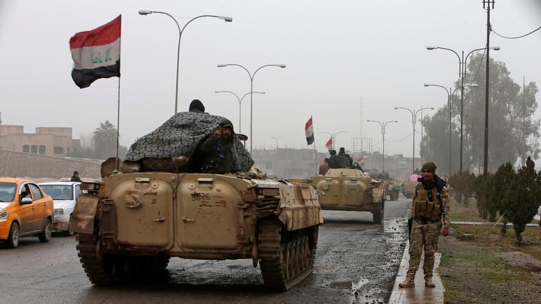 Irakische Armee entdeckt in Mossul ein Senfgaslager des IS