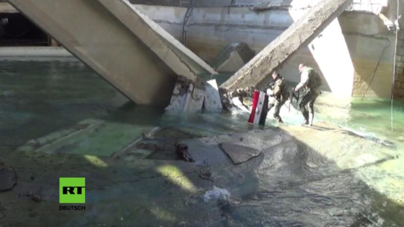 Damaskus: Wasserversorgung für 6 Millionen Menschen zurückerobert, nachdem Terroristen sie kappten