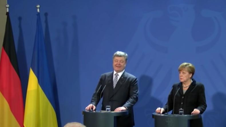 Live: Angela Merkel und ukrainischer Präsident Poroschenko geben Pressekonferenz