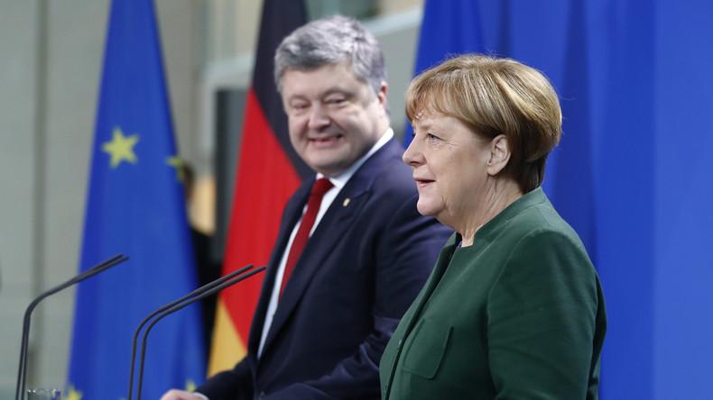 Poroschenko trifft Merkel in Berlin und ruft zur Verstärkung der EU-Sanktionen gegen Russland auf