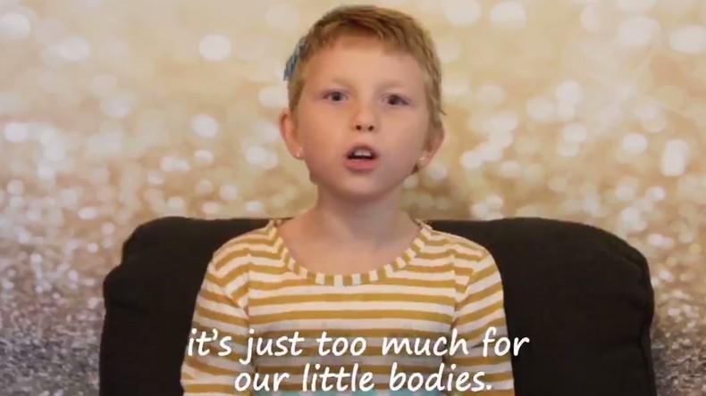 """Achtjährige Krebskranke: """"Vergessen Sie uns nicht, während Sie Amerika groß machen"""" [VIDEO]"""