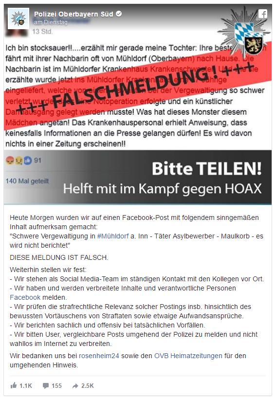 Rosenheim Cops mal anders: Polizei in Rosenheim geht aktiv gegen Fake News vor