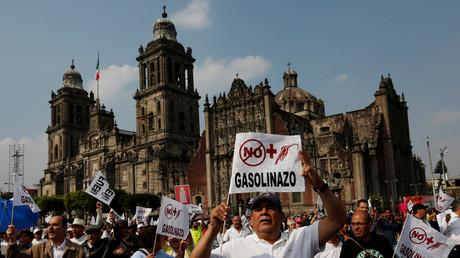 Landesweite Proteste gegen den Anstieg der Benzinpreise in Mexiko.