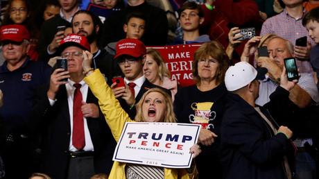 Unterstützer des designierten US-Präsidenten Donald Trump während des Wahlkampfs