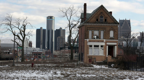 Downtown Detroit...