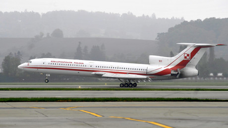 Die polnische Regierungsmaschine vom Typ Tupolev Tu-154.