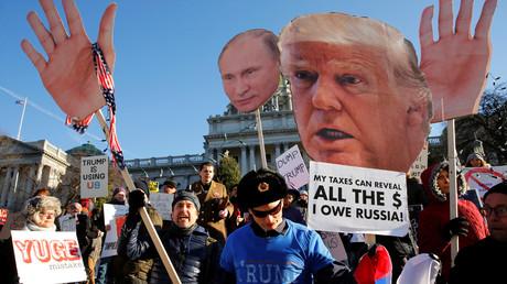 US-Bürger demonstrieren gegen den designierten US-Präsidenten Donald Trump